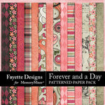 Forever and a Day Patterned Paper Pack-$4.49 (Fayette Designs)