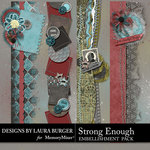 Strong Enough Stacked Borders Pack-$4.99 (Laura Burger)