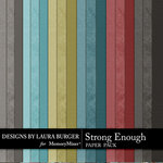 Strong Enough Solid Paper Pack-$1.99 (Laura Burger)