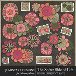 The Softer Side of Life Add On Embellishments-$3.99 (Jumpstart Designs)