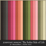 The Softer Side of Life Solid Paper Pack-$3.99 (Jumpstart Designs)
