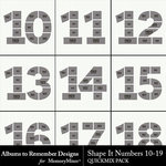 Shape It Numbers 10 to 19 QuickMix-$3.49 (Albums to Remember)