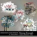 Strong Enough Grunge Scatters Pack-$4.99 (Laura Burger)
