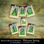Welcome Spring Alphabet Pack-$3.29 (MagicalReality Designs)