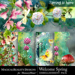Welcome Spring Borders Pack-$3.99 (MagicalReality Designs)