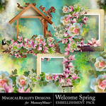 Welcome Spring Clusters Pack-$3.99 (MagicalReality Designs)