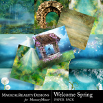 Welcome Spring Paper Pack-$4.50 (MagicalReality Designs)