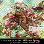 Welcome Spring Embellishment Pack-$4.50 (MagicalReality Designs)
