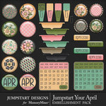 Jumpstart Your April Flair Pack-$3.99 (Jumpstart Designs)