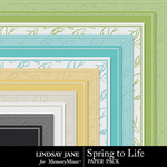 Spring to Life LJ Embossed Paper Pack-$1.99 (Lindsay Jane)
