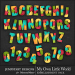 My Own Little World Alphabet Pack-$3.99 (Jumpstart Designs)