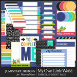 My Own Little World Journal Bits Pack-$3.99 (Jumpstart Designs)