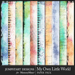 My Own Little World Art Paper Pack-$3.99 (Jumpstart Designs)