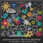 My Own Little World Chalk Bits Pack-$3.99 (Jumpstart Designs)