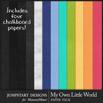 My Own Little World Solid Paper Pack-$3.99 (Jumpstart Designs)