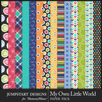 My Own Little World Pattern Paper Pack-$3.99 (Jumpstart Designs)