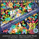 My Own Little World Embellishment Pack-$7.99 (Jumpstart Designs)