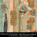 My Memories March Border Pack-$4.99 (Laura Burger)