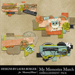 My Memories March Paper Bits Pack-$3.99 (Laura Burger)