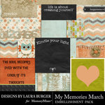 My Memories March Pocket Pieces Pack-$3.99 (Laura Burger)