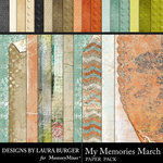 My Memories March Texture Paper Pack-$5.99 (Laura Burger)