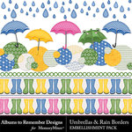 Umbrellas and Rain Border Pack-$0.99 (Albums to Remember)