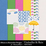 Umbrellas and Rain Mini Pack-$1.75 (Albums to Remember)