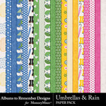 Umbrellas and Rain Paper Pack-$2.00 (Albums to Remember)