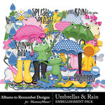 Umbrellas and Rain Embellishment Pack-$1.75 (Albums to Remember)