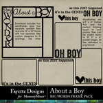 About A Boy FD BigWords Frames Pack-$2.99 (Fayette Designs)