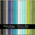 About A Boy FD Solids Paper Pack-$2.99 (Fayette Designs)