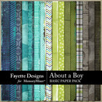 About A Boy FD Basic Paper Pack-$3.99 (Fayette Designs)