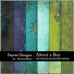About A Boy FD Hotmess Blended Paper-$3.99 (Fayette Designs)