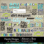 About A Boy FD WordArt Pack-$3.99 (Fayette Designs)