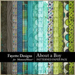 About A Boy FD Patterned Paper-$3.99 (Fayette Designs)