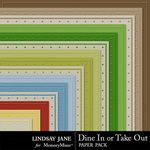Dine In or Take Out Embossed Paper Pack-$1.99 (Lindsay Jane)