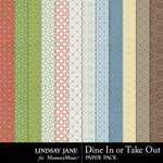 Dine In or Take Out Pattern Paper Pack-$1.99 (Lindsay Jane)