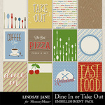 Dine In or Take Out Journal Cards-$1.99 (Lindsay Jane)