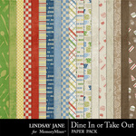 Dine In or Take Out Paper Pack-$2.49 (Lindsay Jane)