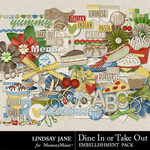 Dine In or Take Out Embellishment Pack-$3.49 (Lindsay Jane)