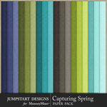 Capturing Spring Solid Paper Pack-$3.99 (Jumpstart Designs)