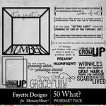 50 What WordArt Pack-$2.99 (Fayette Designs)