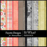 50 What Paper Pack-$4.49 (Fayette Designs)