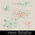 Pastel and Lace Scatterz Pack-$1.40 (Lindsay Jane)