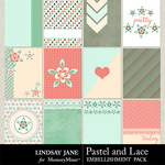 Pastel and Lace Journal Cards Pack-$1.40 (Lindsay Jane)