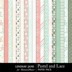 Pastel and Lace Paper Pack-$1.75 (Lindsay Jane)