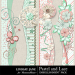 Pastel and Lace Borders Pack-$1.40 (Lindsay Jane)