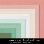 Pastel and Lace Embossed Paper Pack-$1.40 (Lindsay Jane)