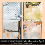 My Memories April Stacked Paper Pack-$3.50 (Laura Burger)