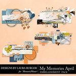 My Memories April Paper Bits Pack-$2.80 (Laura Burger)